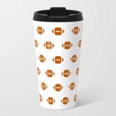 Texas longhorns orange and white university college texan football pattern Travel Mug