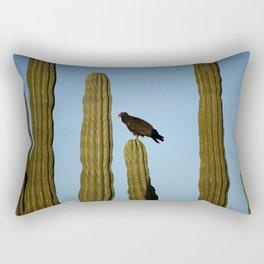 Buzzard in the desert Rectangular Pillow