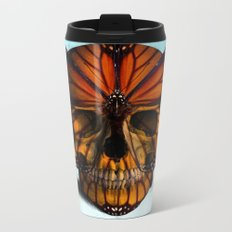SKULL (MONARCH BUTTERFLY) Metal Travel Mug