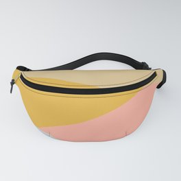 Large Triangle Pattern in Soft Earth Tones Fanny Pack