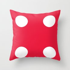 Red Dice 4 Throw Pillow
