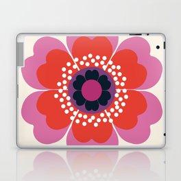 Lightweight - 70s retro throwback floral flower art print minimalist trendy 1970s style Laptop & iPad Skin