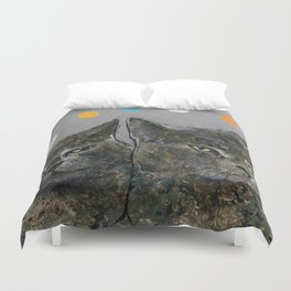 Grey Cats Duvet Cover