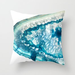 Whale agate slice Throw Pillow
