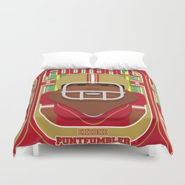 American Football Red and Gold - Enzone Puntfumbler - Hayes version Duvet Cover