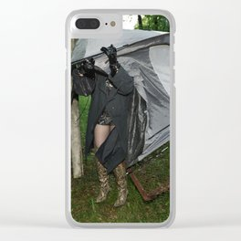 It's a Matter of Fact that it Always Rains on Tents Clear iPhone Case