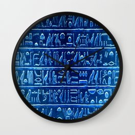 Osiris Moon Magick Egyptian Temple Wall Clock