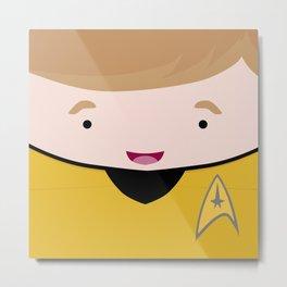 Kirk in a Box Metal Print