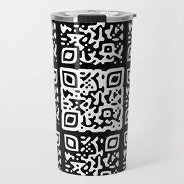 QR Clothes Black Travel Mug