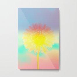 Blowing Dandelion Metal Print