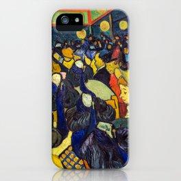 Vincent Van Gogh - The ballroom at Arles iPhone Case