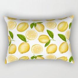 Luscious Lemon Pattern Rectangular Pillow