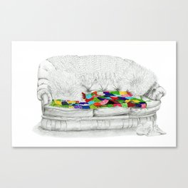 Granny's Sofa Canvas Print