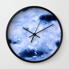 Marbled Water Blue Wall Clock