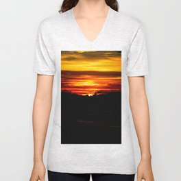 When the sun sets upon us Unisex V-Neck