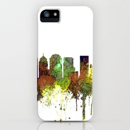 Charlotte NC Skyline SG Safari Buff iPhone Case