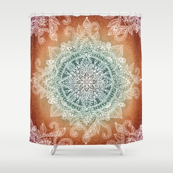 Burning With Desire Shower Curtain