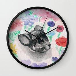 Chinchilla Floral Wall Clock