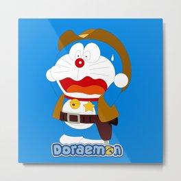 Doraemon Coboy Metal Print