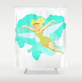 Tinker Bell Minimalist Shower Curtain