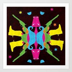 Neon Cowboy Art Print
