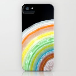 Colorful Abstract Slice of Giant Jawbreaker Candy iPhone Case