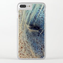 Horse Eye Photography Print Clear iPhone Case