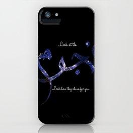 Stars - Arabic Typography iPhone Case