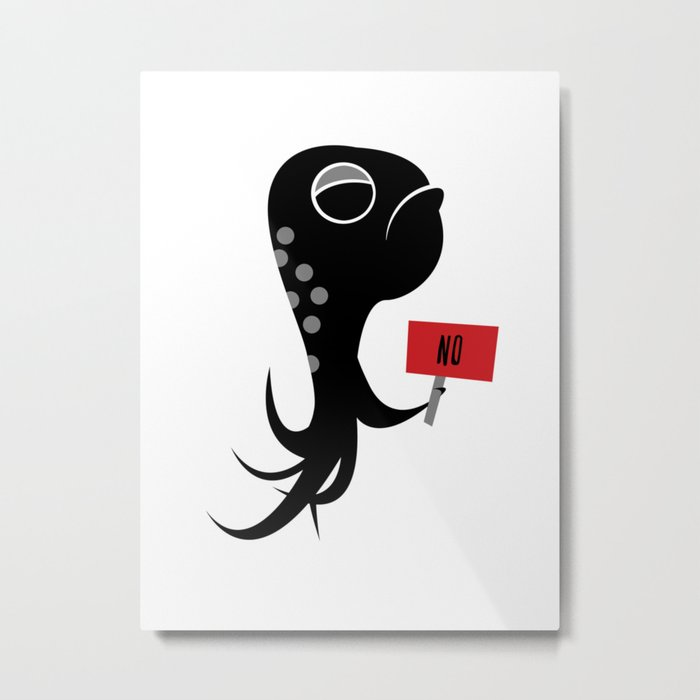 Squid of No Metal Print