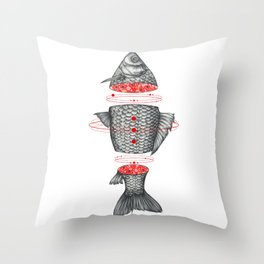 Sashimi III Throw Pillow
