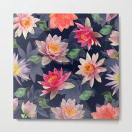 Lotus Flower Pattern #2 Metal Print