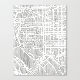 DC city print Canvas Print