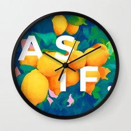 As If #society6 #decor #buyart Wall Clock