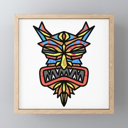 Tribal Demon Mask Framed Mini Art Print