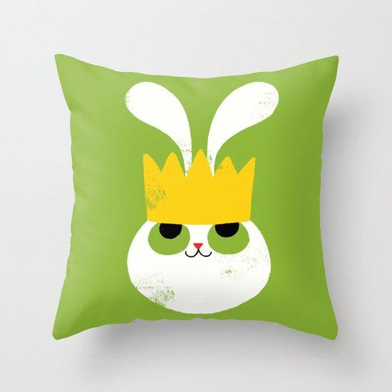 Rabbit King Throw Pillow