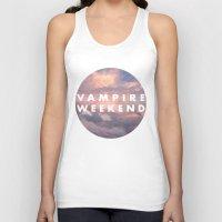 vampire weekend Tank Tops featuring Vampire Weekend clouds logo by Van de nacht