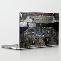 nasa Laptop & iPad Skins featuring Space Shuttle NASA by Planet Prints