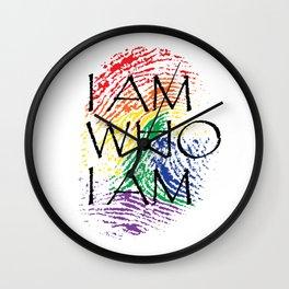 I Am Who I Am Fingerprint Pride Gay Gift Wall Clock