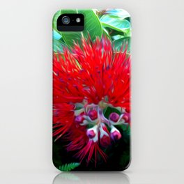 Liko Lehua - Budding Lehua Blossom iPhone Case