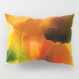 Poppies on green Pillow Sham