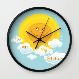 You are my Sunshine! (Turquoise) Wall Clock