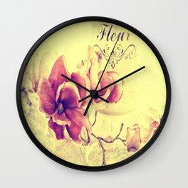 Magnolia passion Wall Clock