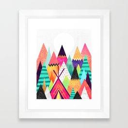 Land of Color Framed Art Print
