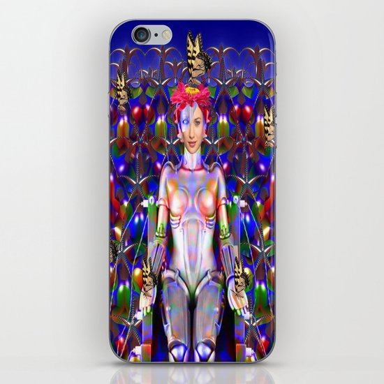 Robot Butterfly iPhone & iPod Skin