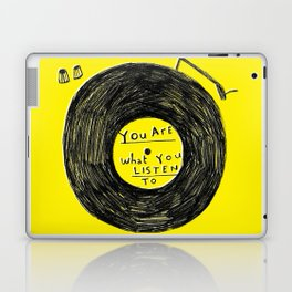 you are what you listen to FULL YELLOW Laptop & iPad Skin