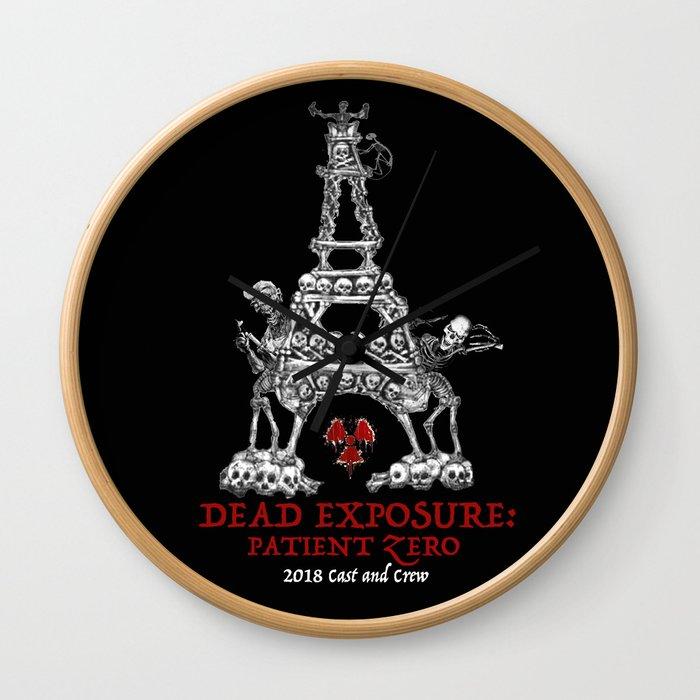 Dead Exposure: Patient Zero (Eiffel Tower) Wall Clock