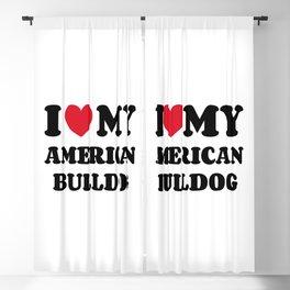American Bulldog Blackout Curtain