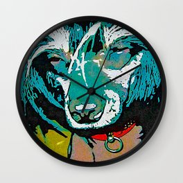 Chinese crested 9 Wall Clock