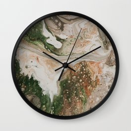 Kirsten Paint Pour Wall Clock