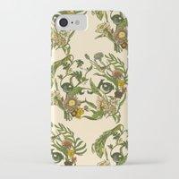 botanical iPhone & iPod Cases featuring Botanical Pug by Huebucket